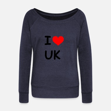 Kingdom I love UK United Kingdom - Women's Boat Neck Long Sleeve Top