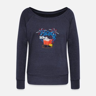 America America - Women's Wide-Neck Sweatshirt