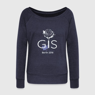 ESRI GIS Conference Berlin 2018 - Women's Boat Neck Long Sleeve Top