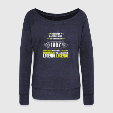Gift for the 20th birthday for darts players - Women's Boat Neck Long Sleeve Top