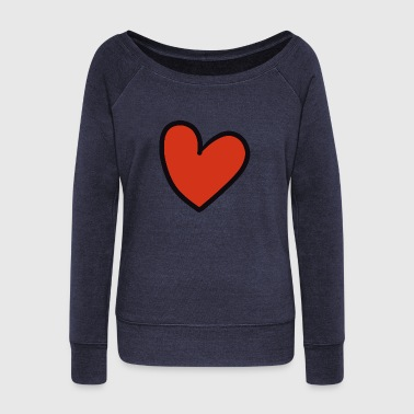 Crook crooked heart - Women's Boat Neck Long Sleeve Top