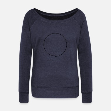 OCD Circle - Women's Boat Neck Long Sleeve Top
