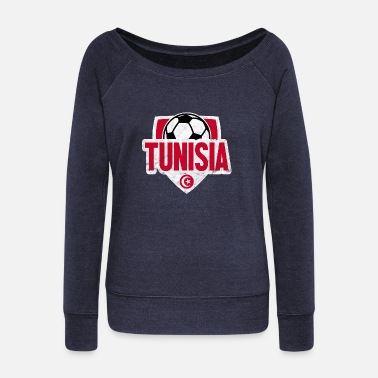 Football Team Tunisia Football Team Team T-Shirt Gift - Women's Boat Neck Long Sleeve Top