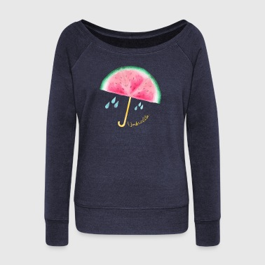Umbrella Umbrella | Umbrella - Women's Boat Neck Long Sleeve Top