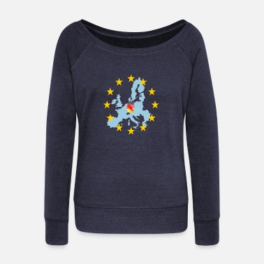 Germany EU Germany (Germany Europe) - Women's Wide-Neck Sweatshirt