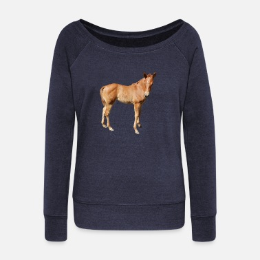 Foal foal - Women's Wide-Neck Sweatshirt