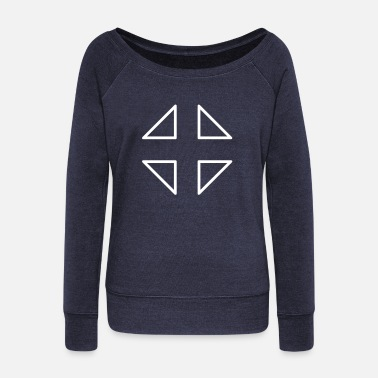 Crosshair Crosshair crosshair fighter triangle triangles - Women's Boat Neck Long Sleeve Top