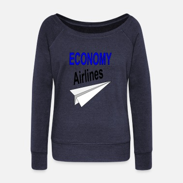 Airline airlines - Women's Wide-Neck Sweatshirt