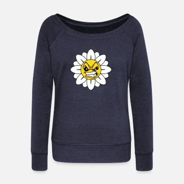 Angry Angry Flower  - Vrouwen U-hals longsleeve
