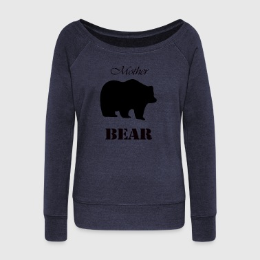 Mother's Day Gift and T-shirt: Mother Bear - Women's Boat Neck Long Sleeve Top