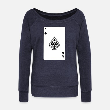 Ace Of Spades Ace Of Spades - Women's Boat Neck Long Sleeve Top