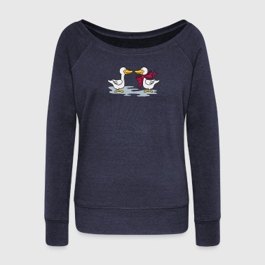 The goose - Women's Boat Neck Long Sleeve Top