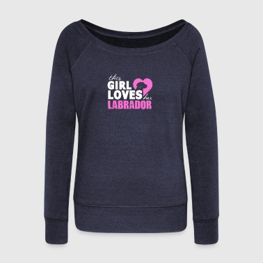 Labrador Love Labrador - Women's Boat Neck Long Sleeve Top