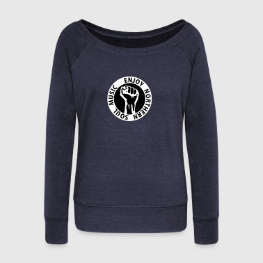 Digital - Enjoy Northern Soul Music - nighter keep the faith - Women's Boat Neck Long Sleeve Top