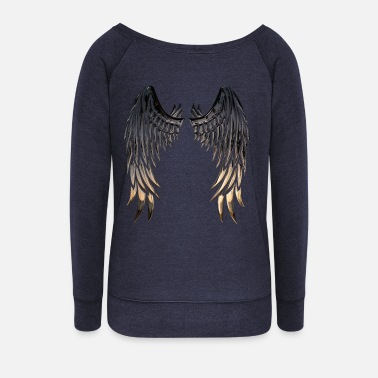 Wing Wings wings - Women's Wide-Neck Sweatshirt