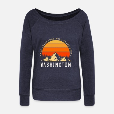 Nato Washington USA - Women's Wide-Neck Sweatshirt