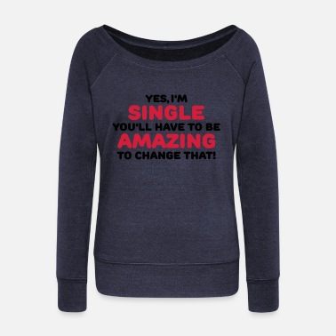 Single Yes, I'm single - Pull col bateau Femme