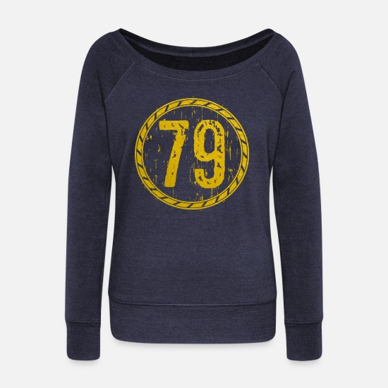Construction Long sleeve shirts - 1979 - Women's Wide-Neck Sweatshirt heather navy