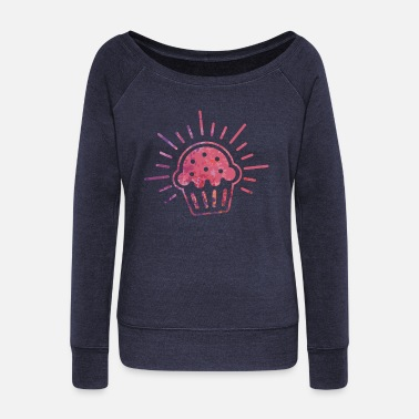 Muffin Muffin - Women's Wide-Neck Sweatshirt