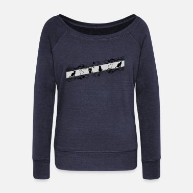 Glamour Glamour Cats Exclusive - Women's Wide-Neck Sweatshirt