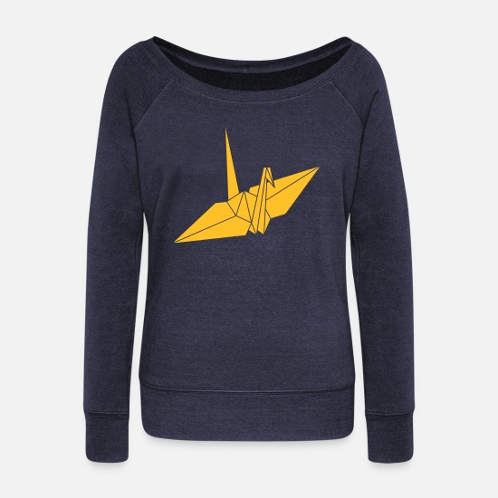 Craft Long sleeve shirts - origami - Women's Wide-Neck Sweatshirt heather navy