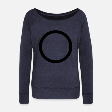 Circular circular - Women's Wide-Neck Sweatshirt