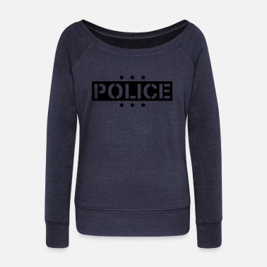 police_f1 - Women's Wide-Neck Sweatshirt