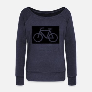 Bicycle Bicycle bicycle bicycle - Women's Wide-Neck Sweatshirt