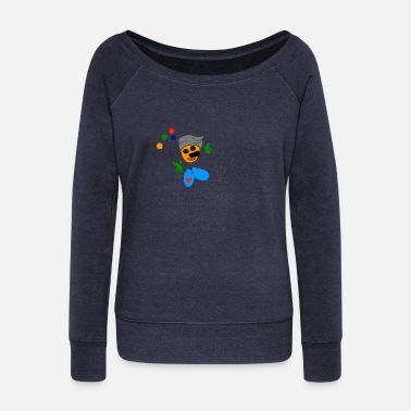 Comic comic - Women's Wide-Neck Sweatshirt