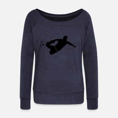 Running free running - Women's Wide-Neck Sweatshirt