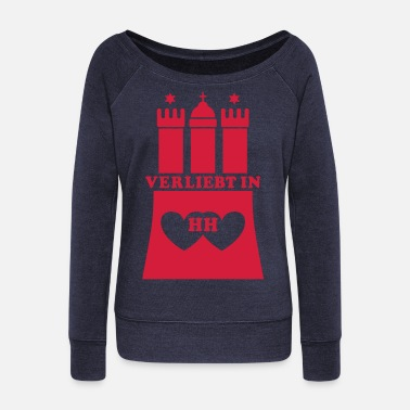 Hh LOVE in HH HAMBURG - Women's Wide-Neck Sweatshirt