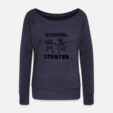 School Beginner School beginners, school starters - Women's Wide-Neck Sweatshirt
