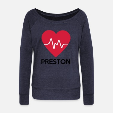 Preston heart Preston - Women's Wide-Neck Sweatshirt