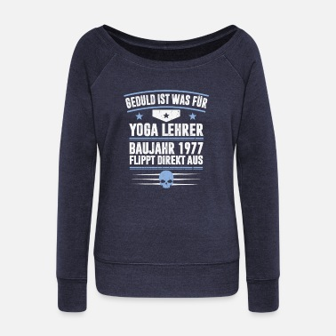 Year YEAR OF YEAR 1977 - Women's Wide-Neck Sweatshirt