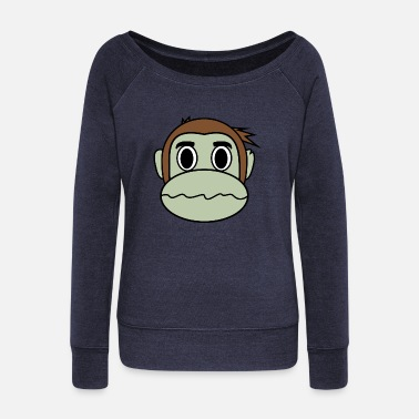 Dizzy Dizzy Monkey - Women's Wide-Neck Sweatshirt