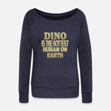 Dino Dino - Women's Wide-Neck Sweatshirt