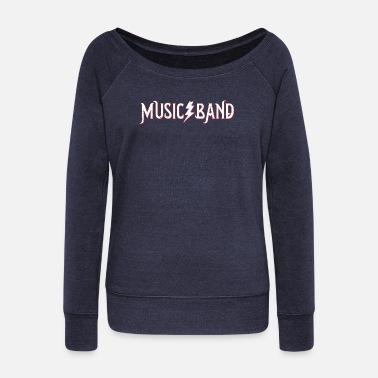 Band Music band - Women's Wide-Neck Sweatshirt