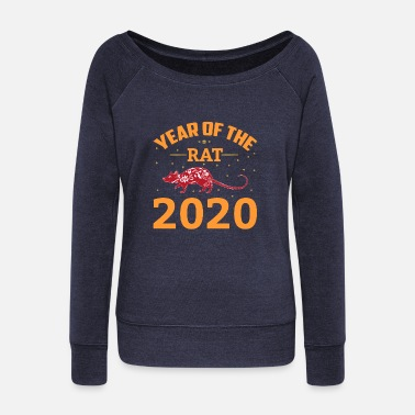Rat The Chinese Year of the Rat - Rat - Rat - Women's Wide-Neck Sweatshirt