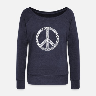 Symbol Peace peace symbol - Women's Wide-Neck Sweatshirt