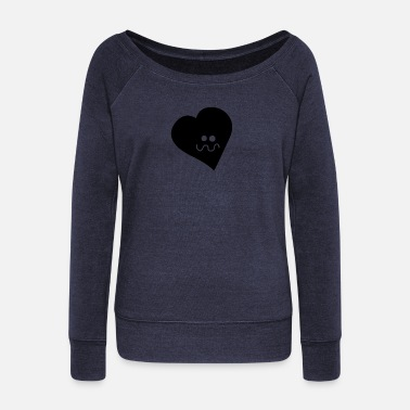 Dizzy dizzy heart - Women's Wide-Neck Sweatshirt