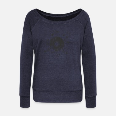 Jokey Disk Jokey - Women's Wide-Neck Sweatshirt