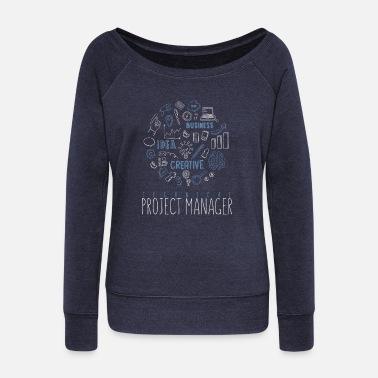 Project Technical Project Manager - Technical Project - Women's Wide-Neck Sweatshirt