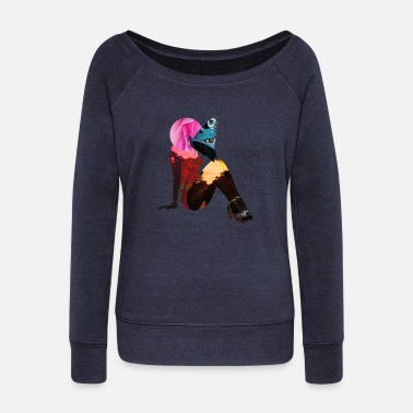 Pin-up Pin-up - Women's Wide-Neck Sweatshirt