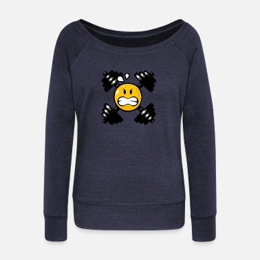 Weight Lifting Smiley Weight Lifting - Pull col bateau Femme
