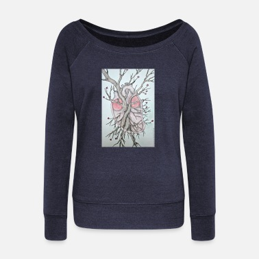 Corazon Corazon - Women's Wide-Neck Sweatshirt