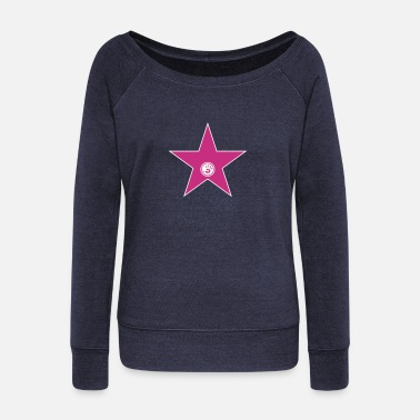 Video walk of fame + your name - Sweatshirt med ubåds-udskæring dame
