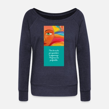 Depth depth - Women's Wide-Neck Sweatshirt