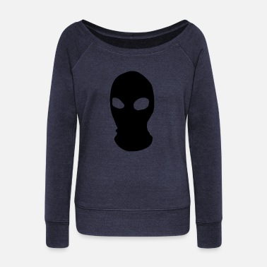 Mask Face Mask - Women's Wide-Neck Sweatshirt