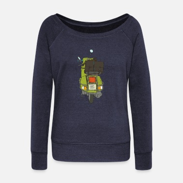 Collections 2 wheels - Women's Wide-Neck Sweatshirt