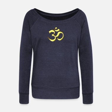 Rave Sacred OM (AUM - I AM), gold, manifestation of - Felpa con scollo a barca donna